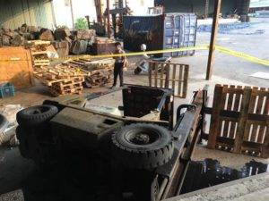 倉庫安全管理-堆高機翻車